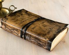 Personalized Large Leather Journal Blank Book A5 Writing di codice