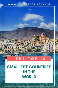 Want to travel to a place that is intriguing? A cozy nation or island? I want to visit #3 and #8. Check out this list of the top ten smallest countries in the world! via @abusybeeslife