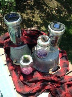@Tanya Memme makes #DIY solar lights to illuminate her backyard campsite! #lanterns #camping #outside #light #solarpower #homeandfamily #homeandfamilytv