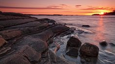Water sunset nature rocks bay skyscapes view sea (1920x1080, sunset, nature, rocks, bay, skyscapes, view, sea)  via www.allwallpaper.in