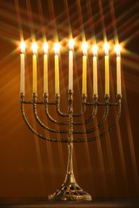 """The story of Chanukah begins in 167 B.C. while Jerusalem was ruled by the Greek Empire. King Antiochus the 4th forced the Jews to reject their religion and to worship the Greek gods instead. As a result, the Jews began a revolt, Judas Macabeus being the leader. Chanukah celebrates the rededication of the temple in Jerusalem, after 3 years of fighting against the Greeks (Chanukah in Hebrew means """"dedication"""")."""
