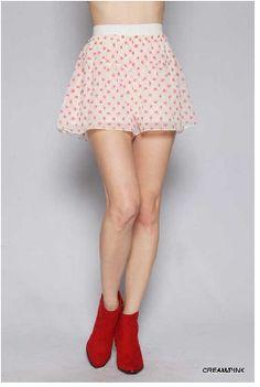 Love the pink skeletons #glampunk Frightening Culotte Short