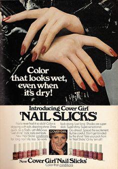 1977 Cosmetics Ad, Cover Girl Nail Slicks | Flickr - Photo Sharing!