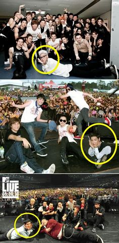 """Recently, a compilation of photos of Big Bang's TOP made their way onto several online communities, humoring fans with TOP's adorable habit when he takes photos.    The photos, titled """"TOP's Habit since His Debut,"""" showed the singer-actor in the same pose in several different photos. In the photos, TOP lies on the floor and props his hand up, as if he's a flower and his hands are leaves."""