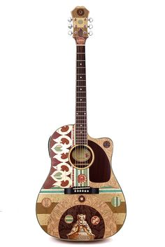 modified ephiphone acoustic guitar $425