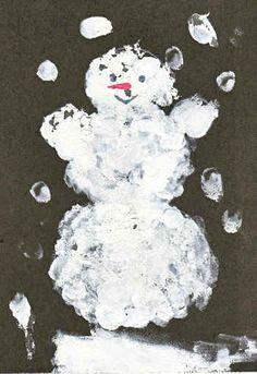 Рисуем пальчиками зиму — HandMade