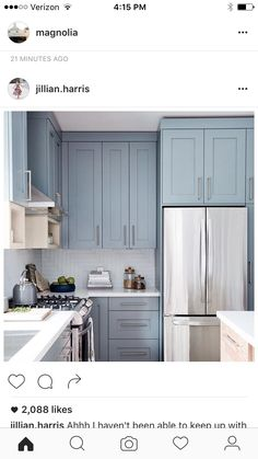 Laundry room cabinets- smoky blue color