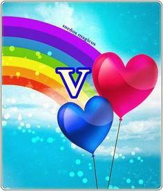 Oh my Alfabetos!: Alfabeto con globos y arco iris.