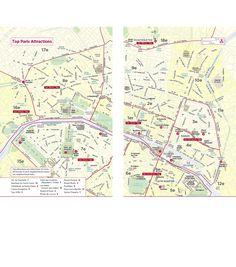 Map of Paris Attractions | Summer destinations | Pinterest | Paris ...