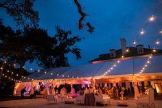 tent with bistro lighting   Juliet Elizabeth #wedding