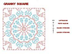 granny square pattern - Google Search