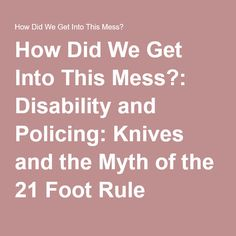 The 21-foot rule is a myth that gets disabled people killed.