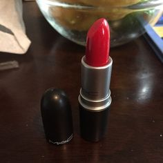 Red Mac Lipstick *Most popular red lipstick* gift and I don't wear lipstick! ❤️ MAC Cosmetics Makeup Lipstick