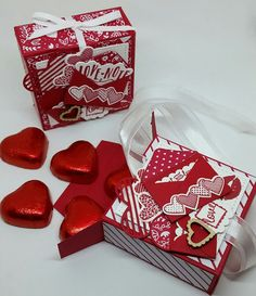 Stampin' Up! Demonstrator stampwithpeg : Sending Love : Gift box with chocolate hearts – Sealed with Love, With instructions. And a Special Offer from me!! As promised I am back again with th…