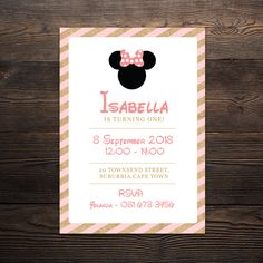 """"""" The perfect theme for any little girl who loves her some Minnie Mouse! Product Includes: Invitation size / Prints 1 invitation per page) Minnie Mouse Party, Mouse Parties, Cupcake Wrappers, Party In A Box, Party Printables, Party Invitations, Prints"""