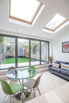 Need a new garden or home design? You're in the right place for decoration and remodeling ideas.Here you can find interior and exterior design, front and back yard layout ideas. House Extension Plans, House Extension Design, Living Room Extension Ideas, Kitchen Diner Extension, Open Plan Kitchen, Kitchen Extension With Skylights, Orangery Extension Kitchen, Glass Extension, Rear Extension