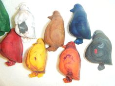 Fat Penguin Crayons FREE SHIPPING 10 pieces by AVAFritsch on Etsy, $9.50