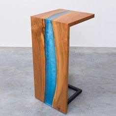 Epoxy Waterfall Table | Ana White