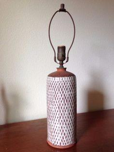 *SOLD* VTG Danish Ceramic Earthenware Pottery Table-Lamp - Made in Denmark, signed *SOLD*