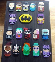 Batman characters hama beads by hae_urusai