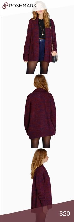 SOLD Burgundy Maddison sweater cardigan Super warm and thick sweater! Brand new with tags! This will fit up to a medium. Tobi Sweaters Cardigans