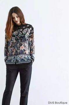 camisa floral boho