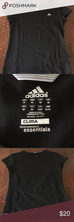 """XL Adidas Clima360 Shirt XL Adidas Clima360 shirt in excellent condition. While it does say """"ClimaLite"""" on the back, it is made of a thicker material. I think I only wore this one a couple times. Comes from a smoke free/feline friendly home. Any questions, just ask. Always open to reasonable offers. Adidas Tops Tees - Short Sleeve"""