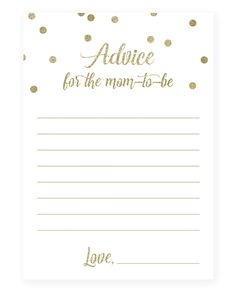 Gender neutral baby shower advice cards for new parents by LittleSizzle Baby Shower Advice, Baby Shower Bingo, Baby Shower Printables, Shower Ideas, Baby Quiz, Nursery Rhymes Games, Emotional Child, Advice For New Moms, Gold Nursery