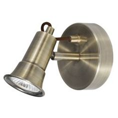 Single Wall Spotlight in Antique Brass and Fully Mains halogen wall spot lighting fixture in an antique brass finish with fully adjustable head. Height - 10cm Width - 12cmProjection - 12cm Bulb type - 240v GU10 halogenBulb wattage - 1 x 50w (include http://www.MightGet.com/january-2017-11/single-wall-spotlight-in-antique-brass-and-fully.asp