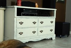 Dresser Turned Entertainment Center