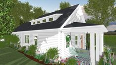 Small Cottage House Plans, Small Cottage Homes, Small House Floor Plans, Tiny House Cabin, Tiny Homes, Guest House Plans, House Plan With Loft, New House Plans, Guest Houses