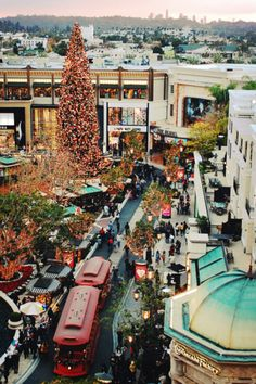 Christmas in Los Angeles the grove
