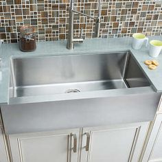 Hahn Chef Series Extra Large Flat Front Farmhouse Sink