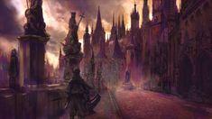 Yharnam Cathedral Ward, by Edouard Noisette on ArtStation at https://www.artstation.com/artwork/yharnam-cathedral-ward