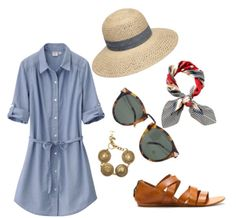 shirt dress with accessories