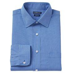 Men's Croft & Barrow® Slim-Fit Broadcloth Spread-Collar Dress Shirt, Size: 1