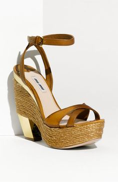 Mui Mui wedge. I've probably already pinned this, but they deserve a double pin for being exquisite!!