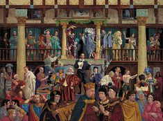 Artifacts Gallery - All the Worlds a Stage, James C. Christensen