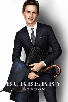 Eddie Redmayne for Burberry--anybody but me think his head is WAY TOO BIG?