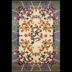 Chinese - Silk  Circa: 1920  Color: Gold  Origin: China  Width: 6' 3'' ( 190.5 cm )  Length: 9' 3'' ( 281.9 cm ) Stock Id: #21859