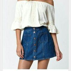 Bullhead Denim - Pacsun Bullhead Denim Co. Button Front Skirt