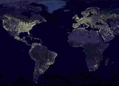 Lights seen from outer space at night. I have always loved this picture. (taken Nov 2000)