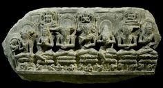 Frieze with Sadhus   India  11th-12th c.  Black Phyllite  20 x 40 cm