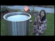 Japanese Soaking Tub Ofuro Wood Fired Water HeaterGreat Hot Tub Japanese Style T… Japanese Soaking Tub Ofuro Wood Fired Water HeaterGreat Hot Tub Japanese Style Tub – KatieLady – Japanese Soaking Tubs, Japanese Bath, Japanese Style, Outdoor Bathtub, Get Off The Grid, Heat Exchanger, Backyard Farming, Firewood, Most Beautiful Pictures