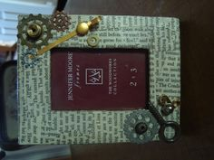 Steam punk inspired picture frame I made.