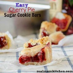 Easy Cherry Pie Sugar Cookie Bars - I simplified it even more by using refrigerated sugar cookie dough. Really good!!