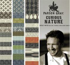 A few of the fabrics here are those I plan to use in Baby J's room... Parson Gray by designer David Butler (hubby to one of my FAVORITE fabric designers, Amy Butler).  This is his first line.  Well done!
