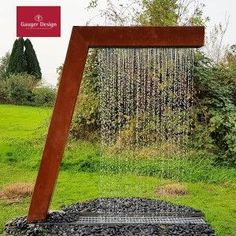 Customized Corten Steel Rain Curtain Garden Fountain Manufacturers, Suppliers - Factory Direct Price - Anhuilong Note: Home hub Sure, home is where in actu Indoor Water Features, Water Features In The Garden, Wall Water Features, Garden Water Fountains, Water Garden, Patio Fountain, Water Wall Fountain, Fountain Design, Indoor Fountain