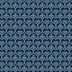 "Mod Damask (Ocean) - modern damask design to print on fabric for DIY sewing and crafts. The Textile District prints fabric on demand on the ground fabric you choose. Each image represents 27"" square to show scale of the printed design. #fabrics #textiledistrict"