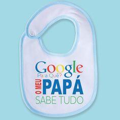 O papá sabe tudo! 😂 #zizimut #funnytshirts #giftshops #personalizedgifts #personalizadas #porto🇵🇹 #babete #bibs #baby #bebe #babetespersonalizados #babeteengraçado #babybib #google